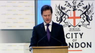 Speech by Nick Clegg to Centre Forum and the City of London Corporation ENGLAND London Mansion House INT Nick Clegg MP speech SOT Thank you for warm...