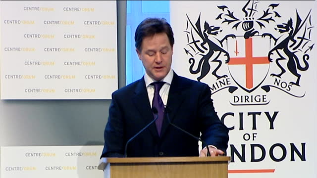 Speech by Nick Clegg to Centre Forum and the City of London Corporation Clegg speech SOT Liberals believe strongly in the virtues of the market But...