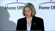 Speech by Theresa May on police pay cuts Theresa May MP speech continued SOT The third challenge is the need to fight organised crime Organised...