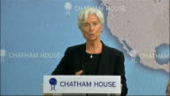 Speeches by Christine Lagarde and George Osborne Christine Lagarde speech SOT 'For the advanced economies there is no question that fiscal...
