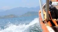Speed boat on sea