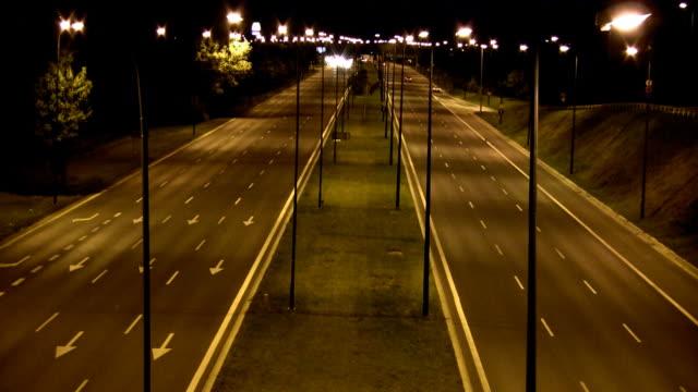 Speeding at night - time lapse