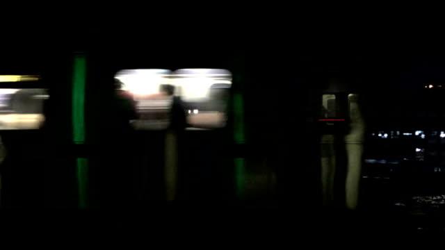 Speeding New York City Subway Train