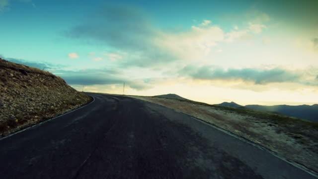 Speedy Rally Onboard Camera Car sulla Strada di montagna