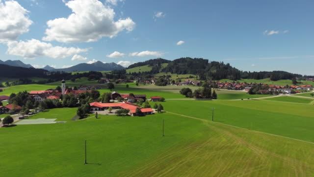 Speiden Dorf und seiner Wallfahrt Kirche Maria Hilf In Ost-Allgäu
