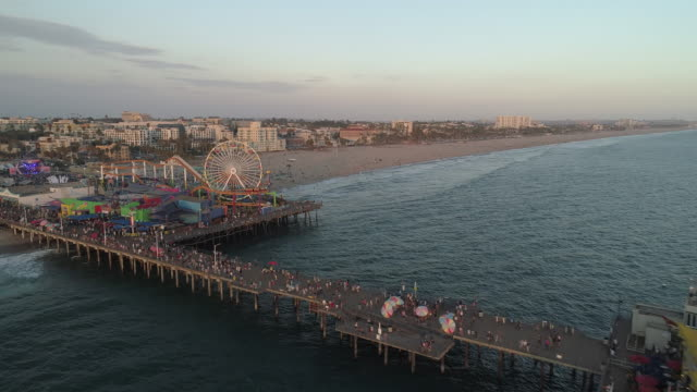 A spellbinding aerial view of Santa Monica Pier. Santa Monica California United States