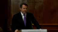Liam Fox speech on 'The Need for Defence Reform' Liam Fox speech SOT There are two broad principles to be followed in the MOD review The first is a...