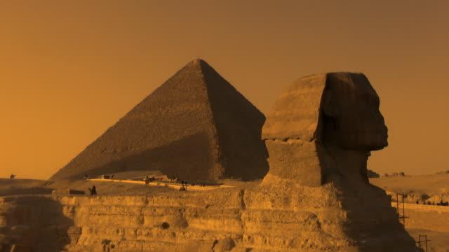 Die Sphinx und der großen Pyramide