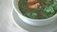 Spicy curry thai soup