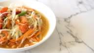 spicy papaya salad (Traditional Thai food)