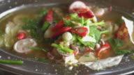 spicy squid in hot pot