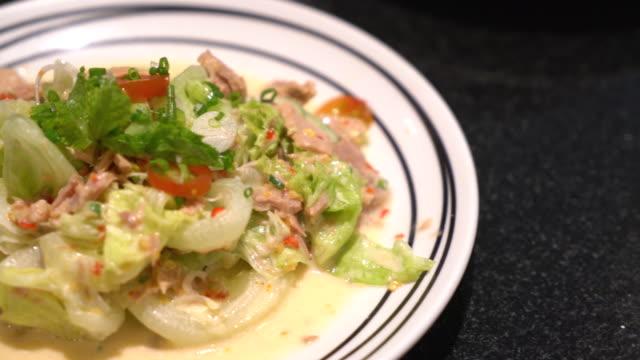 spicy tuna salad - fushion food
