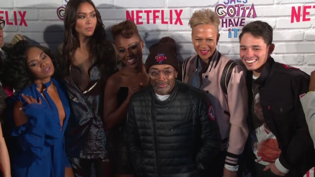 Spike Lee and cast at Netflix Original Series 'She's Gotta Have It' Premiere at Brooklyn Academy of Music on November 11 2017 in New York City