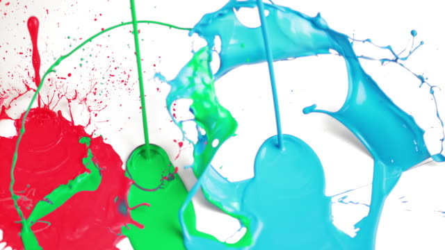 SLO MO morsen RGB-kleuren op witte ondergrond