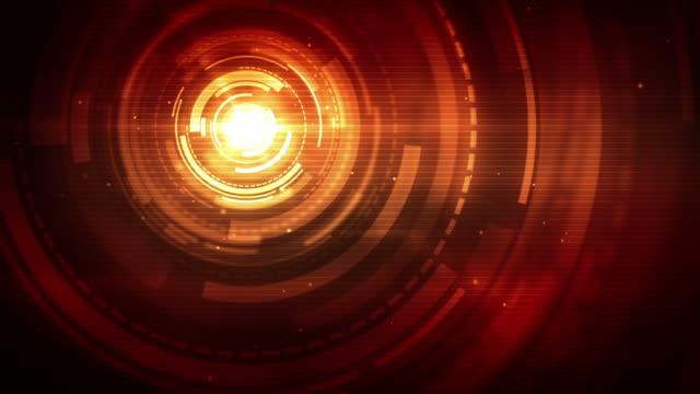 Spinning Kreisen Hintergrund Loop-Fiery Red statt (Full HD