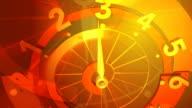 3 D ruota Quadrante di orologio Seamless Loop