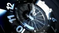 3D Spinning Clock Face Seamless Loop