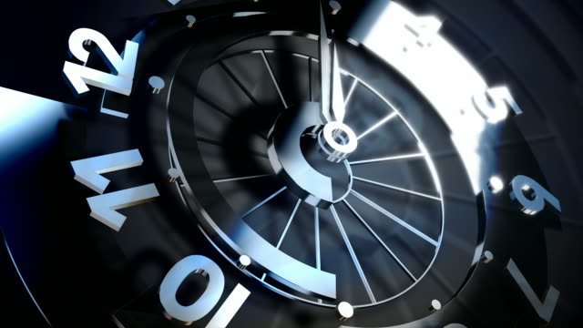 3D Spinning Clock Face Seamless Loop