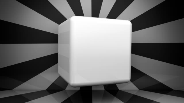Spinning Cube for Copy Space (Loopable)