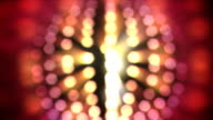 Spinning disco ball lights - defocused, loopable, HD