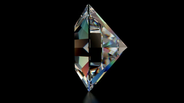 Spinning SINGLE Cut Diamond with Sparkles