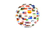 Spinning sphere of flags