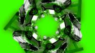 Spinning star of technology (720 HD-original