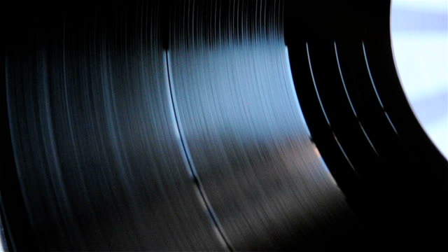 Spinning Vinyl Disc Close-ups