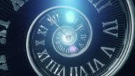 Spiral Clock (Dark, Centered) - Loop
