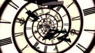 spiral retro clock animation