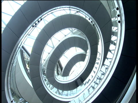 Spiral walk-way inside City Hall building London
