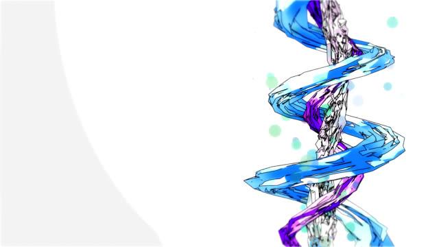 Spiralen der Schraube ist twisted Kristallen