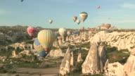 Spires and Towns, Cappadocia, Turkey