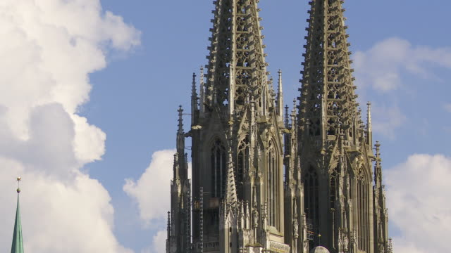 Spires of a Medieval Cathedral (Time Lapse)
