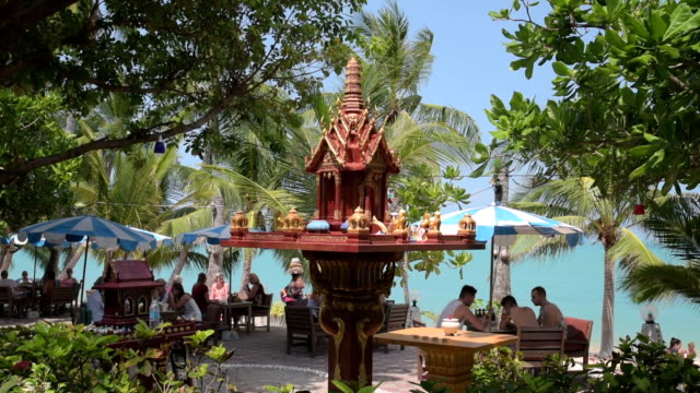 Spirit house at beach restaurant