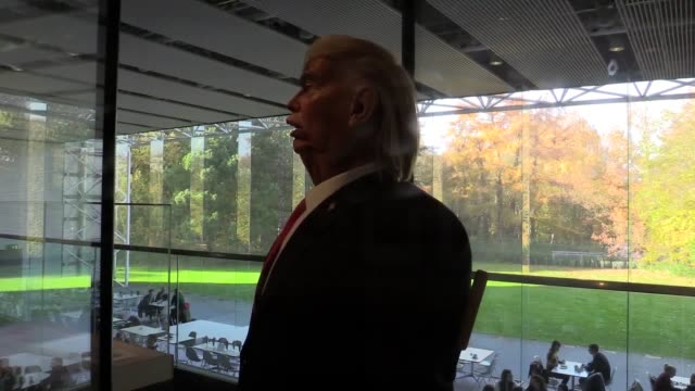Spitting Image cocreator Roger Law speaks about a Donald Trump puppet he has made for a possible new US TV show He was speaking at his exhibition...