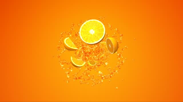 Spritzer Orangensaft.