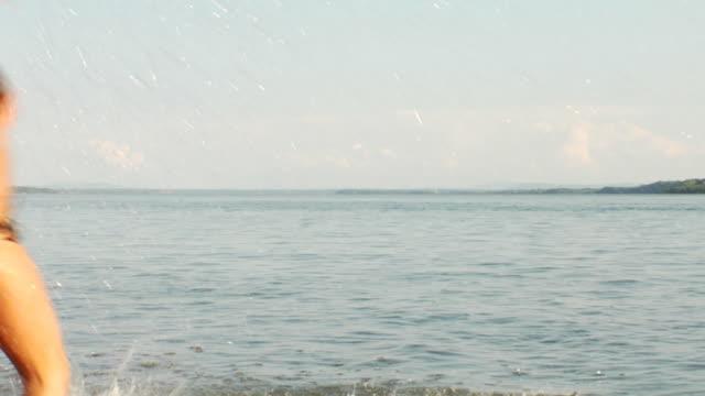 Splashing Beach Girl