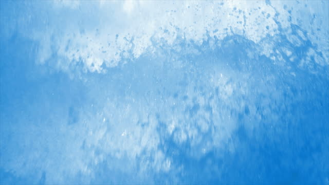 HD Splashing foam close-up in slow motion