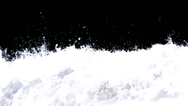 splashing sea ​​foam, slow motion