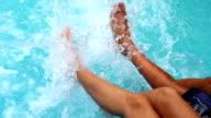 Splashing Water Feet