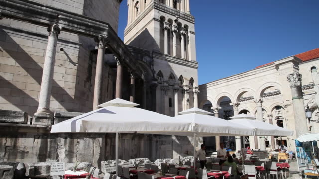 Split, Plalace of Diocletian, view of Cathedral of Saint Domnius