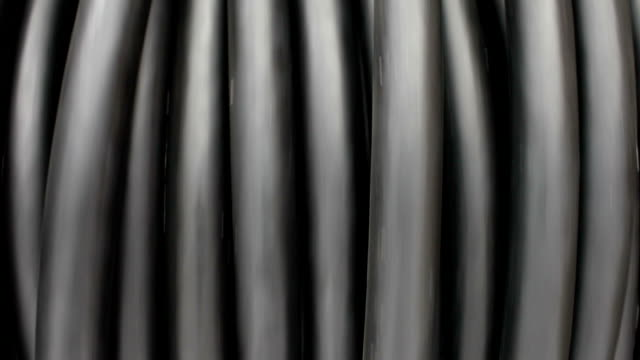 Spool of internet data cable optic fiber