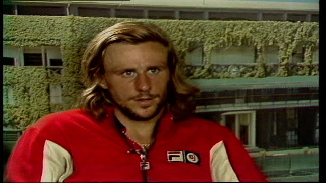 Tennis Wimbledon Lawn Tennis Championships b Interview Bjorn Borg ENGLAND London Wimbledon SOF 'Absolutely I think right' Video OB Tx 070779 / 1000 pm