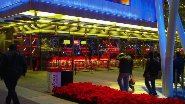 MS, ESPN sports zone bar at L.A. Live, night, Los Angeles, California, USA