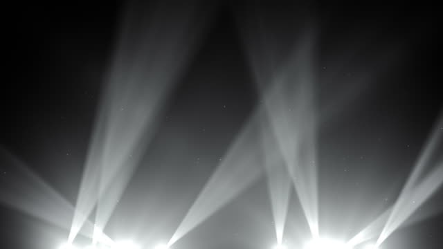 Spot Lights Background Loop - Black and White (Full HD)