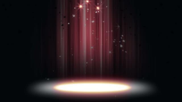 Spotlight glitzernden Hintergrund Loop