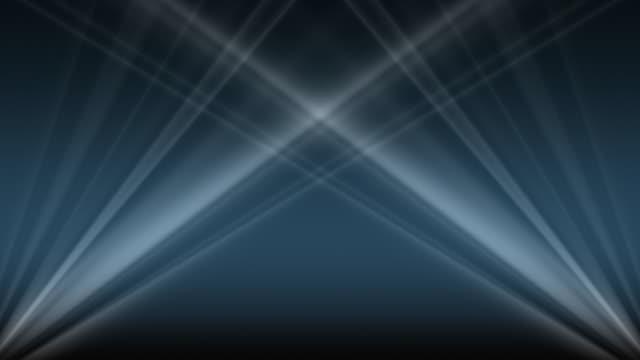 CGI, Spotlights against blue background