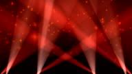 Spotlights on Sky Background Loop Red