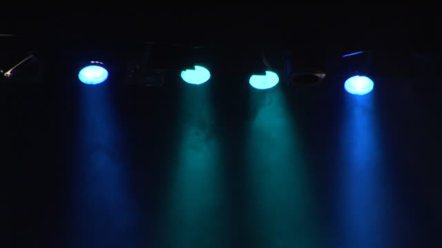 Spotlights on stage - HD & PAL